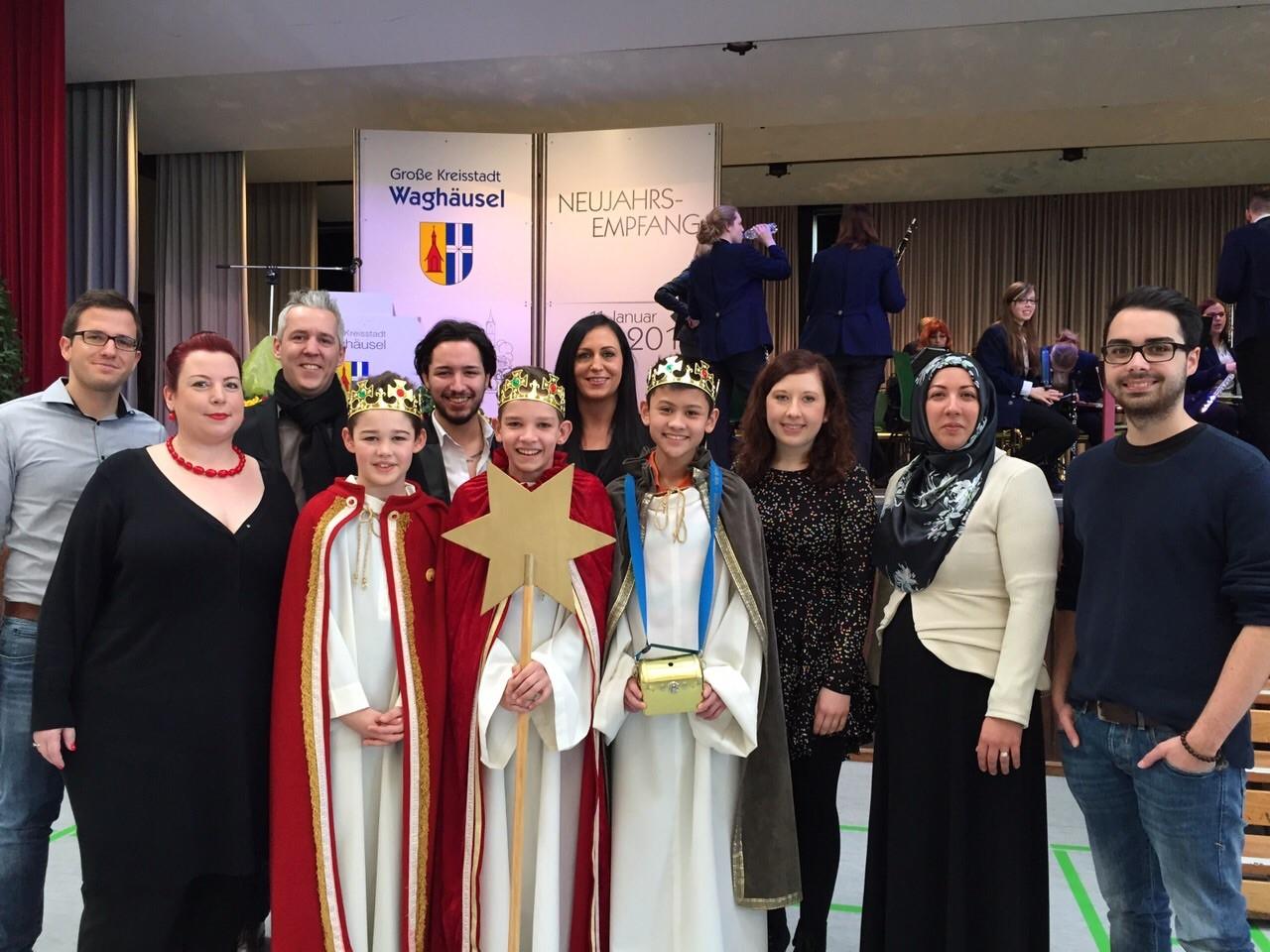 NEW-Fraktion und Mitglieder beim Neujahrsempfang der Stadt Waghäusel